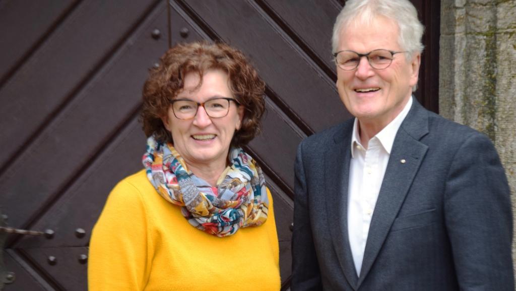 Margit Wiedenmann (Koordinatorin) und Hans Breithaupt (Vorsitzender)    Foto: Peter Urban